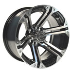 GTW Specter 14 inch Machined & Black Wheel (3:4 Offset)
