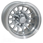 GTW Medusa 10 inch Machined & Silver Wheel (3:4 Offset)