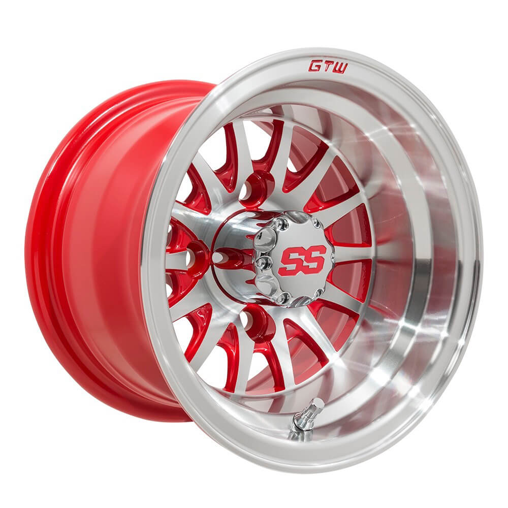 9f07d943552 GTW Medusa 10 inch Machined   Red Wheel (3 4 Offset)