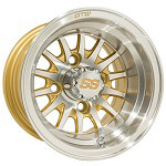 GTW Medusa 10 inch Machined & Gold Wheel (3:4 Offset)