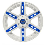 "12"" GTW Tarantula White Wheel with Optional Color Inserts (3:4 Offset)"