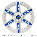 14″ GTW Tarantula White Wheel with Optional Color Inserts (3:4 Offset)