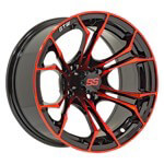 12″ GTW Spyder Wheel (Black with Red Accents)