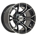 "14"" GTW Spyder Wheel (Black with Machined Accents)"