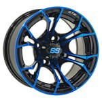 "14"" GTW Spyder Wheel (Black with Blue Accents)"