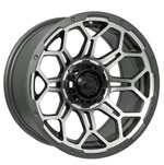 14″ GTW Bravo Wheel (Matte Gray-Machined)