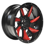 14 in GTW Satin Black Blackhawk Wheel