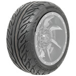 215/ 40-R12 GTW Fusion GTR Steel Belted DOT Tire (No Lift Required)