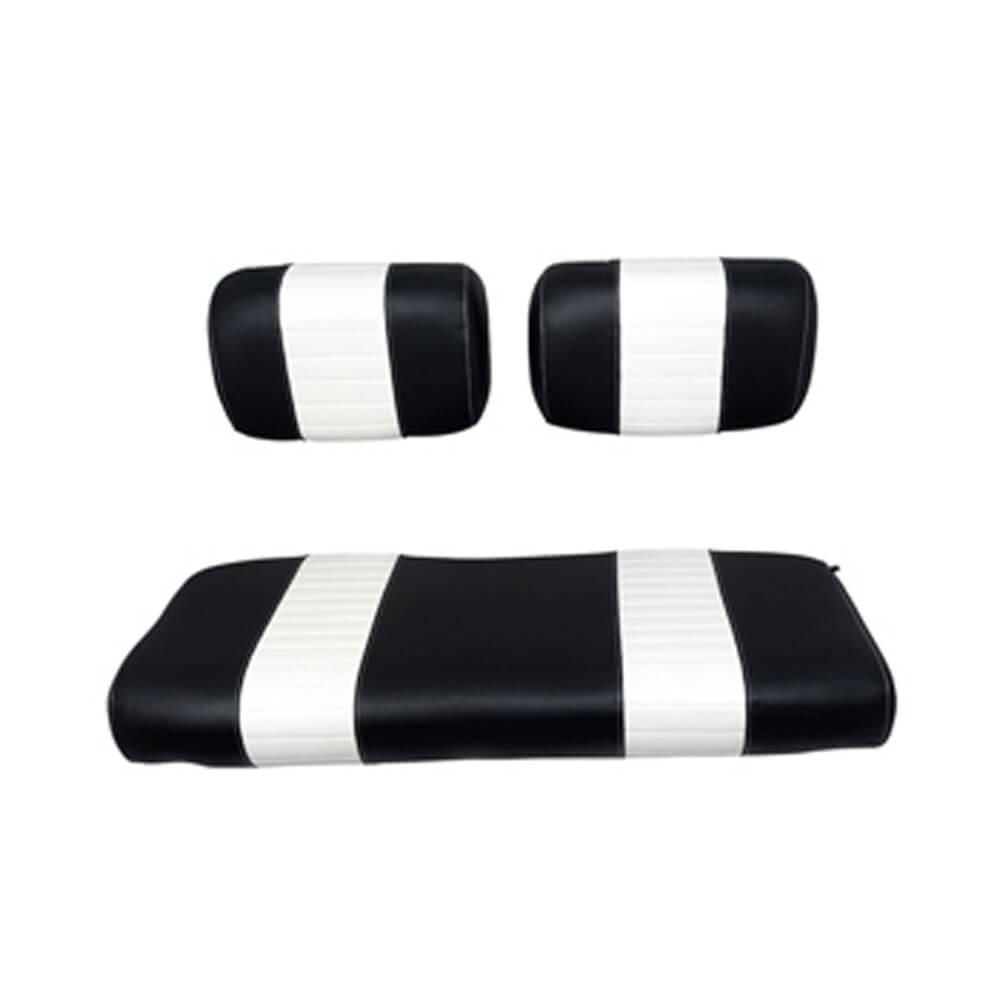Club Car Ds Black White Seat Cushion Set Fits 1979 1999