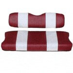 E-Z-GO Medalist /  TXT Red and White Vinyl Seat Cover Set (Fits 1994-Up)