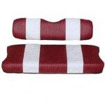 E-Z-GO Marathon Red /  White Seat Cover Set (Fits 1988-1994.5)