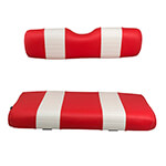 E-Z-GO Medalist /  TXT Red and White Seat Cushion Set (Fits 1994-2013)