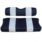 E-Z-GO Medalist /  TXT Navy and White Seat Cover Set (Fits 1994-Up)