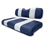 Club Car DS Navy /  White Seat Cushion Set (Fits 2000-2004)