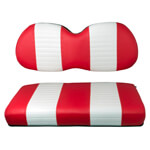 Club Car Precedent Red /  White Seat Cushion Set (Fits 2004-Up)