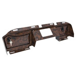E-Z-GO RXV Regal Burl Dash Cover with Locking Doors (Fits 2016-Up)