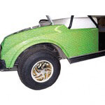 Green Monster Scale golf cart body wrap