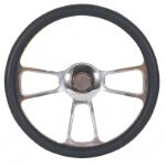 Black Billet Trike Steering Wheel (Universal Fit)