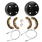 Buggies Unlimited Deluxe Brake Kit - Club Car DS/ CarryAll (Fits 2000-Up) G+E