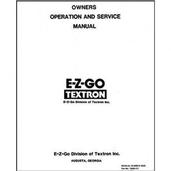 E-Z-GO Medalist Service Manual (Fits 1994-1996)