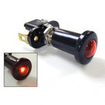 10 AMP PUSH-PULL SWITCH ILLUMINATES RED 12V