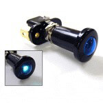 10 AMP PUSH-PULL SWITCH ILLUMINATES BLUE 12V