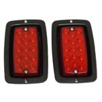 LED Taillight Kit Universal Black Bezel Set Of 2