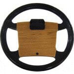 Steering Wheel Cover Light Oak Club Car 1992 & Up