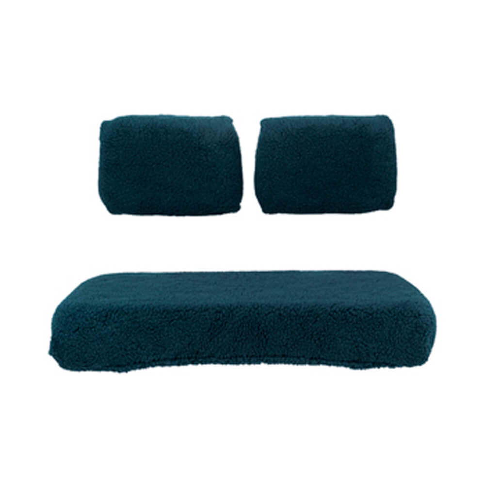 3 Piece Sheepskin Green Seat Covers Fits Select Club Car