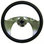 E-Z-GO Typhoon Billet Chrome Steering Wheel (Fits 1975-Up)