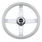 CLASSIC WHITE STEERING WHEEL KIT CC 84-06 DS MODEL