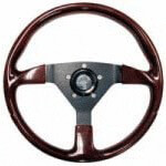 E-Z-GO Woodgrain Steering Wheel (Fits 1975-Up)
