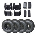 4″ E-Z-GO Medalist /  TXT Electric Lift Kit Combo With Black Steel Wheels (Fits 1994.5-2001.5)