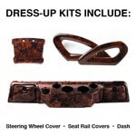 Club Car DS Burlwood Dress-up Kit (Fits 2000-Up)