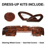 E-Z-GO RXV Burlwood Dress-up Kit (Fits 2008-up)