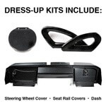 E-Z-GO RXV Carbon-Fiber Dress-up Kit (Fits 2008-Up)