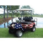 American Flag W/  Eagle Golf Cart Body Wrap (Universal Fit)