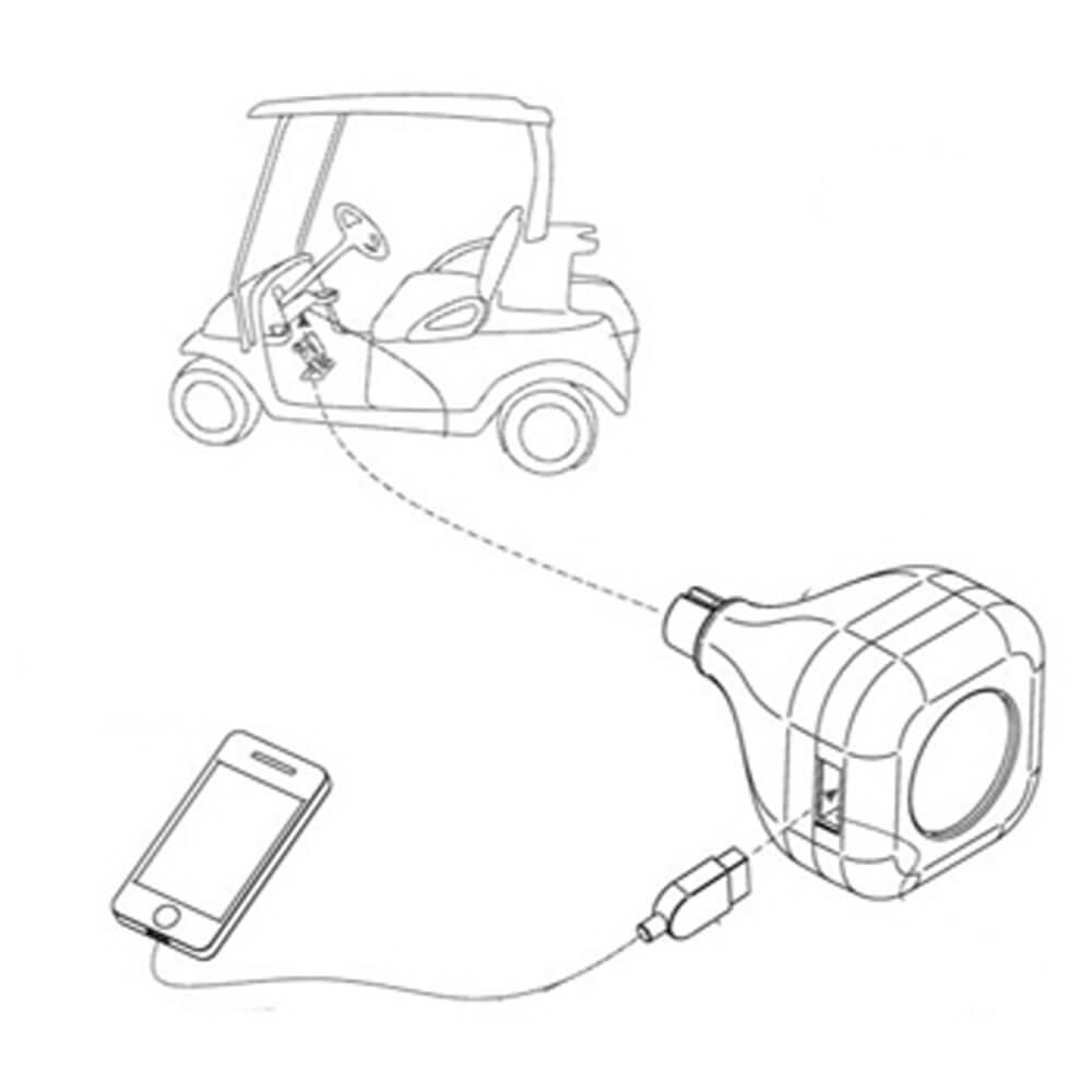 club car iq gimmecharge usb charging port  fits 2003