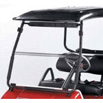 Tinted E-Z-GO Express Folding Windshield (Fits S6/ L6 Models)