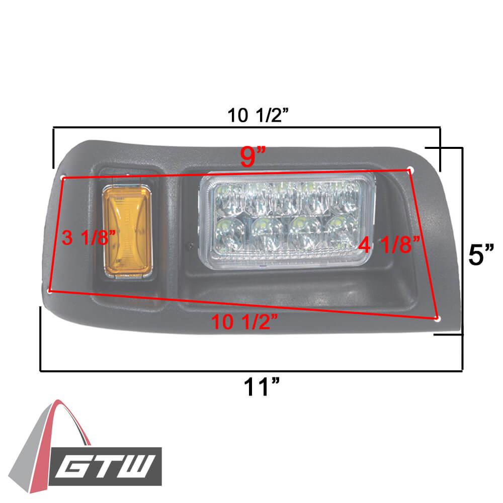 club car ds gtw led light kit  fits 1993