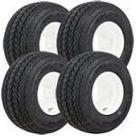 Set of (4) 18x8.5-8 Kenda Hole N One Tires