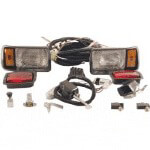 Club Car DS Gas 36-Volt Black Deluxe Light Kit (Fits 1993-Up)