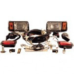 Club Car DS 48-Volt Deluxe Chrome Light Kit (Fits 1993-Up)