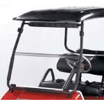 "Clear Club Car DS Folding Windshield - 1/ 4"" (Fits 2000-Up)"