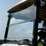 Clear E-Z-GO RXV Impact-Resistant Folding Windshield (Fits 2008-Up)