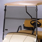 Folding Windshield for EZGO ST-Sport Impact Resistant(Tinted)