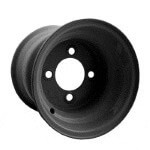 8x3.75 Black Steel Wheel (Centered)