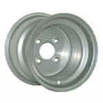 8x7 Silver Steel Wheel (2:5 Offset)