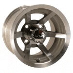 10x7 Machined Silver Evader Wheel (3:4 Offset)