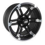 WHEEL, 14X7 BARRACUDA MACH/ MATTE BLK